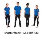 portrait of multiracial... | Shutterstock . vector #661585732