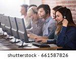 positive female customer... | Shutterstock . vector #661587826