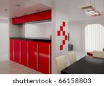 interior of the modern room.... | Shutterstock . vector #66158803