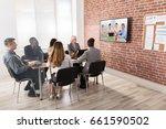 group of businesspeople having... | Shutterstock . vector #661590502