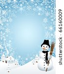 snowman with frame composed of... | Shutterstock .eps vector #66160009