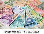 variety of the african banknotes | Shutterstock . vector #661608865