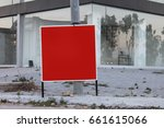 red sign with place for text... | Shutterstock . vector #661615066