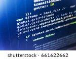programming code on computer... | Shutterstock . vector #661622662
