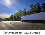truck on the road | Shutterstock . vector #661629886