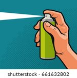 spray in hand. comics style... | Shutterstock .eps vector #661632802