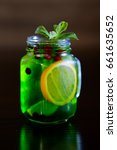 refreshing cocktail with lime ... | Shutterstock . vector #661635652