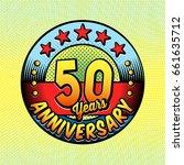 50th anniversary logo. vector... | Shutterstock .eps vector #661635712