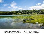 lake of ilay in the french jura ... | Shutterstock . vector #661643062