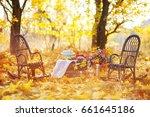 autumn location  autumn decor ... | Shutterstock . vector #661645186