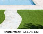 new artificial grass installed...   Shutterstock . vector #661648132
