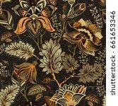 floral seamless pattern ... | Shutterstock .eps vector #661653346