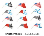 stars and stripes  israel and... | Shutterstock .eps vector #66166618