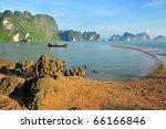 Ao Luk island south of Thailand, Krabi province, Thailand - stock photo