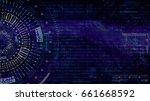 digital matrix particles grid... | Shutterstock . vector #661668592