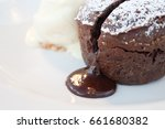 individual chocolate pudding... | Shutterstock . vector #661680382