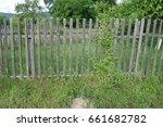 Old Wooden Fence. Transcarpathia