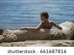 Beautiful Girl Enjoying Beach...