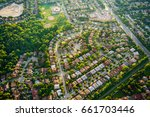 aerial view of houses in... | Shutterstock . vector #661703446