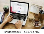 technology concept on a device... | Shutterstock . vector #661715782
