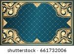 golden ornate decorative...   Shutterstock .eps vector #661732006