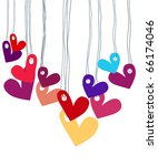 vector background with hearts. | Shutterstock .eps vector #66174046