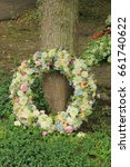 sympathy wreath in pastel... | Shutterstock . vector #661740622