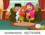 a vector illustration of muslim ... | Shutterstock .eps vector #661741606