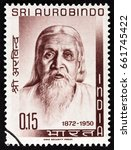 india   circa 1964  a stamp... | Shutterstock . vector #661745422