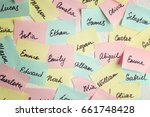 Closeup Of Paper Stickers With...