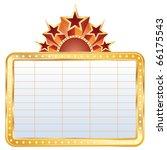 vector golden blank cinema... | Shutterstock .eps vector #66175543