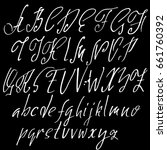 hand drawn elegant calligraphy... | Shutterstock .eps vector #661760392