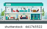 people are doing financial... | Shutterstock .eps vector #661765522