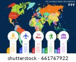 flat world map. country names.... | Shutterstock .eps vector #661767922
