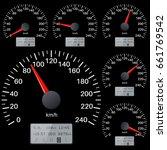 black speedometer scales.... | Shutterstock . vector #661769542