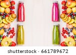 red pink green and yellow... | Shutterstock . vector #661789672