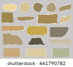 multiform pieces of torn blank... | Shutterstock .eps vector #661790782
