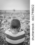 young asian boy stay alone and... | Shutterstock . vector #661798822
