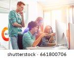creative business colleagues... | Shutterstock . vector #661800706