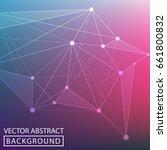 geometric background. internet... | Shutterstock .eps vector #661800832