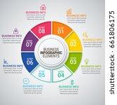 modern infographic timeline...   Shutterstock .eps vector #661806175