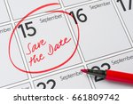 save the date written on a... | Shutterstock . vector #661809742