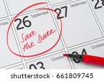 Save The Date Written On A...