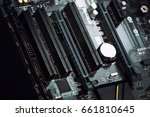 computer motherboard ports with ... | Shutterstock . vector #661810645