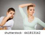 woman having wet armpit her... | Shutterstock . vector #661813162