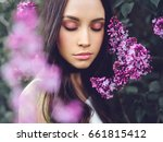 outdoor fashion photo of... | Shutterstock . vector #661815412