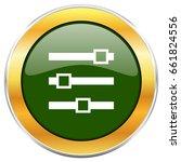 slider green glossy round icon...