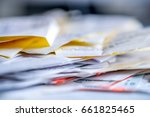 tax  receipt  dokuments  | Shutterstock . vector #661825465