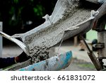 construction site pouring... | Shutterstock . vector #661831072