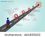 road to goal business timeline...   Shutterstock .eps vector #661835632